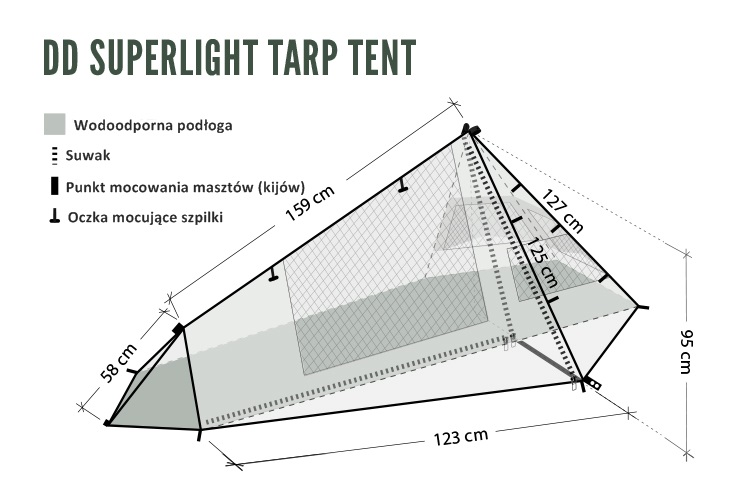 Namiot DD Superlight Tarp Tent +gratis!